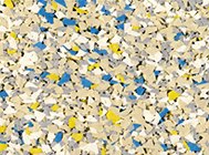 Индивидуальный многоцветный микс пяти видов гранул EPDM